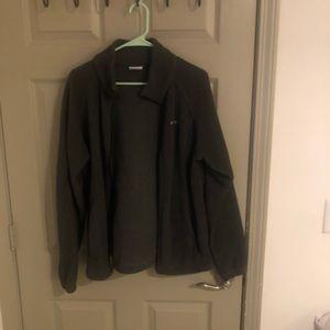 Columbia - charcoal fleece zip up